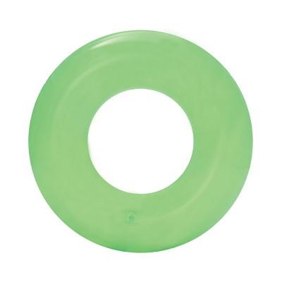 Zöld átlátszó úszógumi, 51 cm