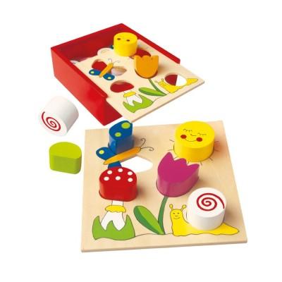 Fa formabedobó játék, rét