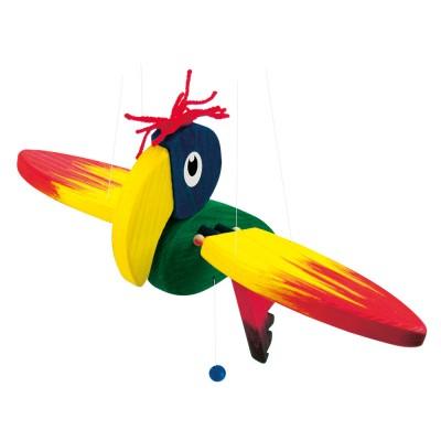 Fa függő papagáj báb, kicsi