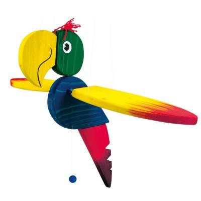 Fa függő papagáj báb, nagy