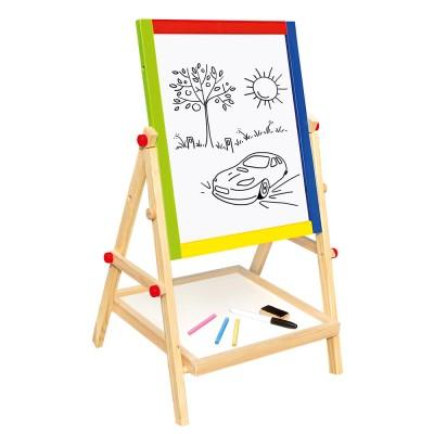 Fa kétoldalas rajztábla állvány