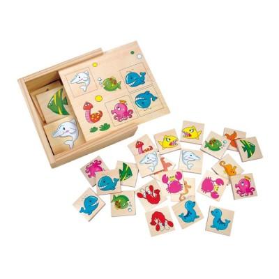 Fa párkereső memória játék, tenger állatok