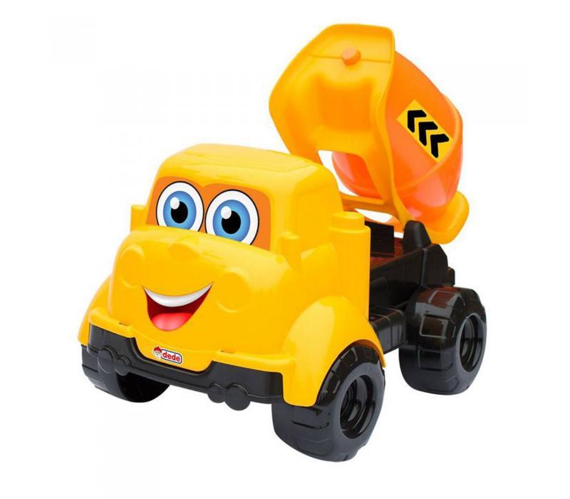 Vidám játék betonkeverő autó