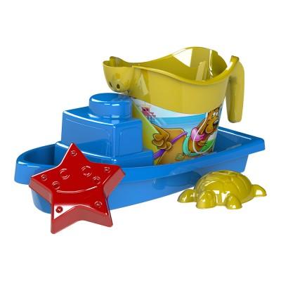 Scooby-Doo hajós homokozó készlet, 4 részes