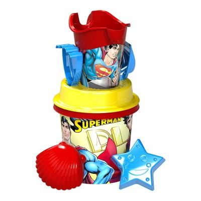 Superman közepes homokozó készlet, 7 részes