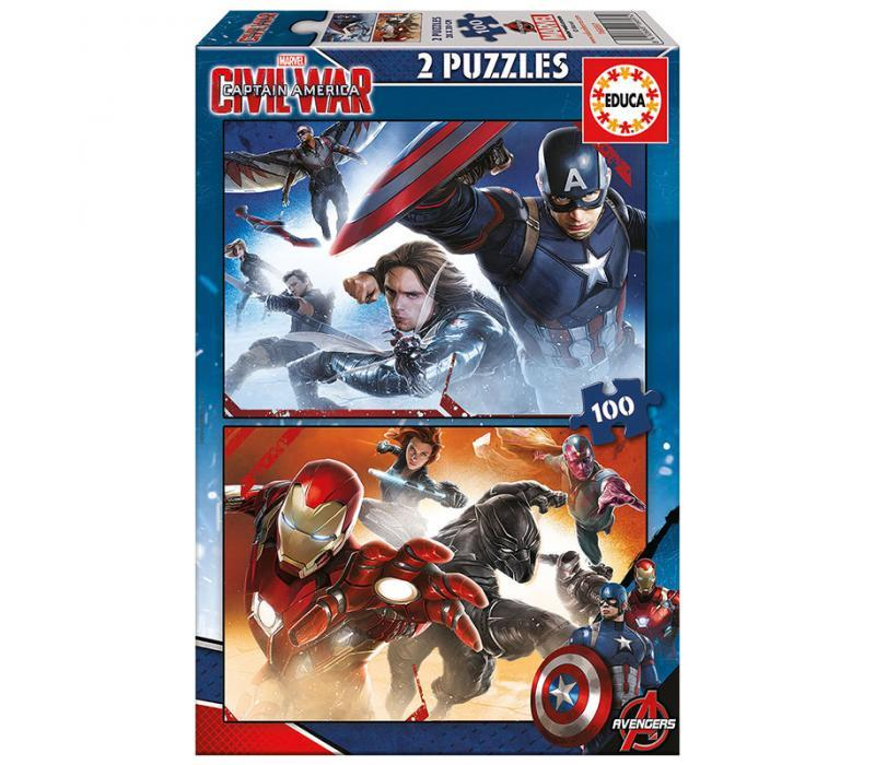 Educa Amerika kapitány puzzle, 2x100 darabos