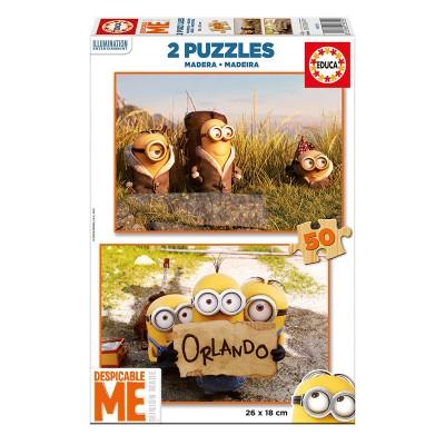 Educa Minions fa puzzle, 2x50 darabos 16819