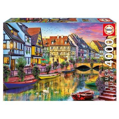 Educa A francia Colmar-csatorna puzzle, 4000 darabos