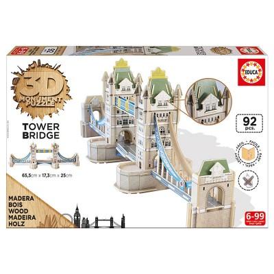 Educa A londoni Tower Bridge 3D puzzle, 92 darabos
