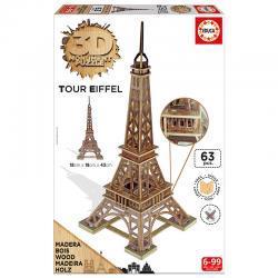 Educa A párizsi Eiffel-torony 3D puzzle, 63 darabos