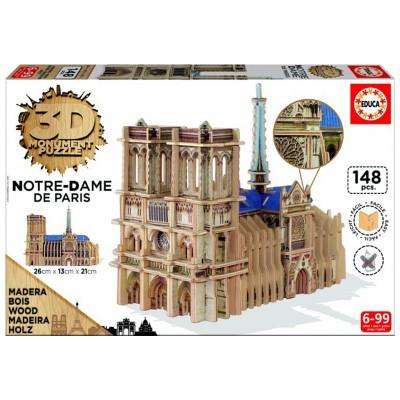 Educa A párizsi Notre-Dame székesegyház 3D puzzle, 148 darabos