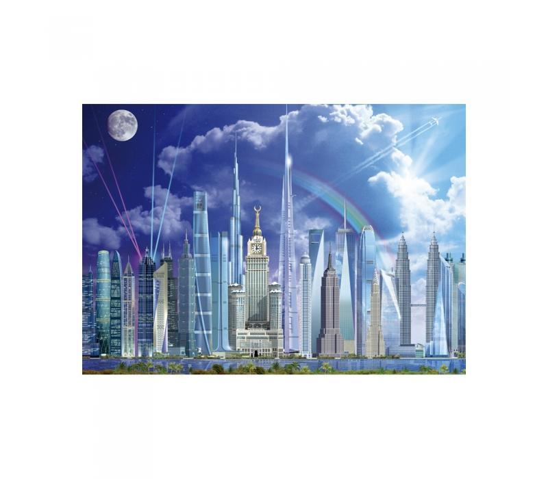 Educa A világ legmagasabb épületei puzzle, 1000 darabos