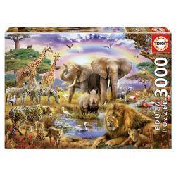 Educa Állatok a szivárvány alatt puzzle, 3000 darabos
