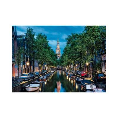 Educa Amsterdami kanális szürkületkor puzzle, 1500 darabos