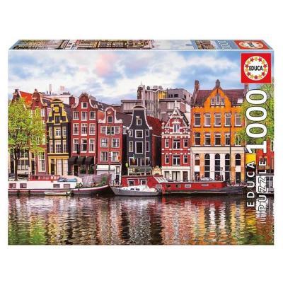 Educa Amszterdam - Dancing houses puzzle, 1000 darabos