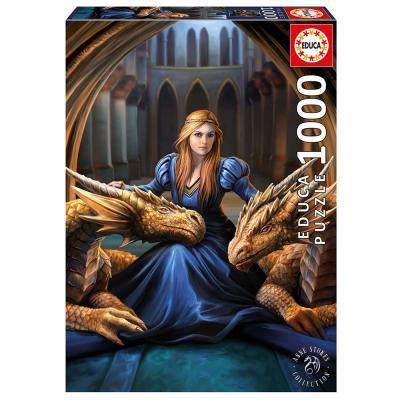 Educa Anne Stokes: Vad hűség puzzle, 1000 darabos