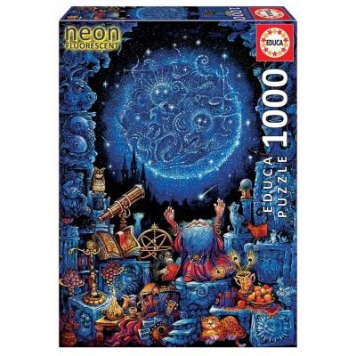 Educa Asztrológus neon puzzle, 1000 darabos