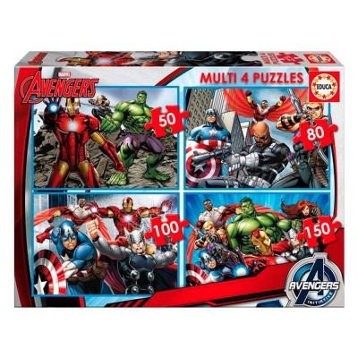 Educa Avengers Bosszúállók puzzle, 4 az 1-ben