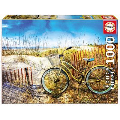 Educa Bicikli a homokdűnék között puzzle, 1000 darabos