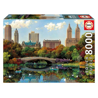 Educa Central Park Bow Bridge, Alexander Chen puzzle, 8000 darabos