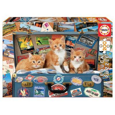 Educa Cicakölykök a bőröndben puzzle, 200 darabos