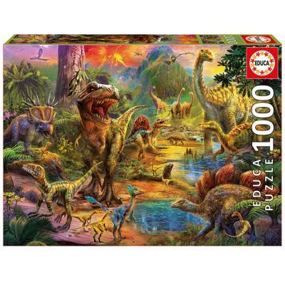Educa Dinoszauruszok világa puzzle, 1000 darabos