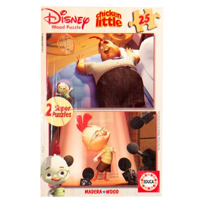Educa Disney Csodacsibe fa puzzle, 2x25 darabos
