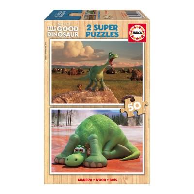 Educa Disney Dínó tesó fa puzzle, 2x50 darabos
