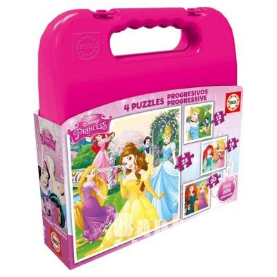 Educa Disney Hercegnők puzzle táskában, 4 az 1-ben