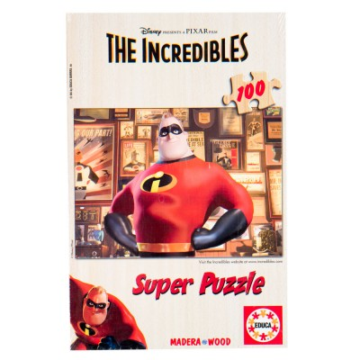 Educa Disney Hihetetlen Család fa puzzle, 100 darabos