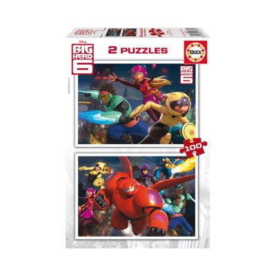 Educa Disney Hős6os puzzle, 2x100 darabos