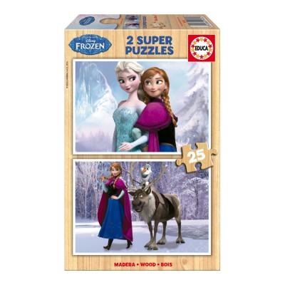 Educa Disney Jégvarázs fa puzzle, 2x25 darabos I.