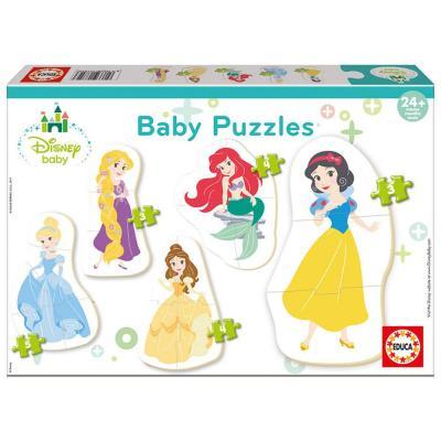 Educa Disney hercegnők 5 az 1-ben bébi puzzle, 2 x 3, 2 x 4, 1 x 5 darabos
