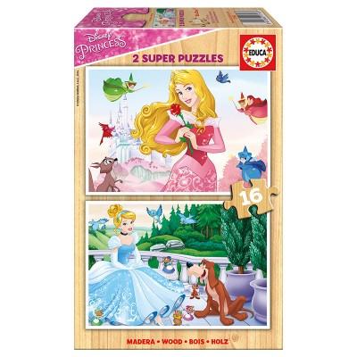 Educa Disney hercegnők puzzle, 2x16 darabos
