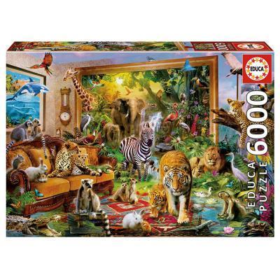 Educa Dzsungel a nappaliban puzzle, 6000 darabos