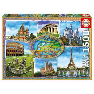Educa Európa hét csodája puzzle, 1500 darabos
