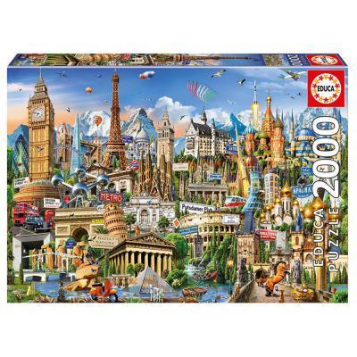 Educa Európa nevezetességei puzzle, 2000 darabos