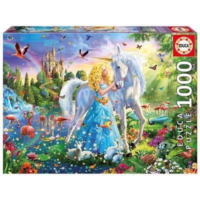 Educa Hercegnő és az unikornis puzzle, 1000 darabos