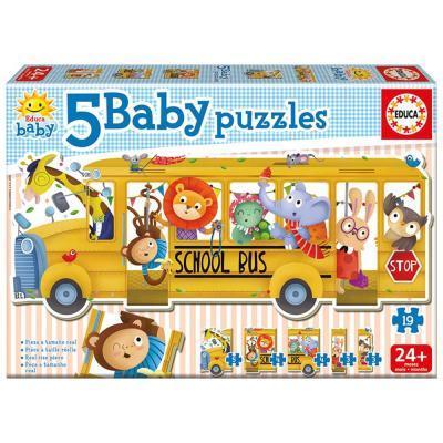 Educa Iskolabusz bébi puzzle, 5 az 1-ben