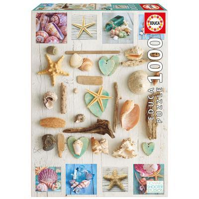 Educa Kagylók kollázs puzzle, 1000 darabos