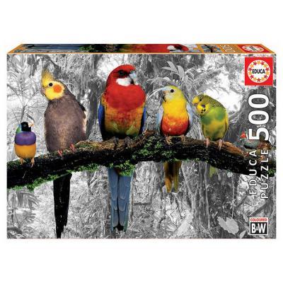 Educa Madarak a dzsungelben puzzle, 500 darabos