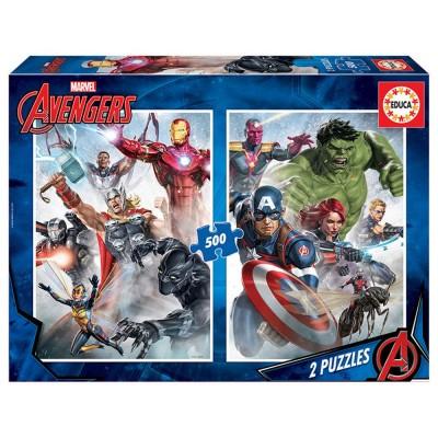 Educa Marvel mánia, Bosszúállók puzzle, 2x500 darabos