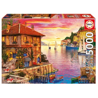 Educa Mediterrán kikötő, Dominic Davison puzzle, 5000 darabos