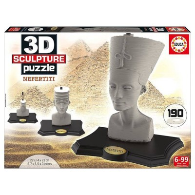 Educa Nefertiti 3D puzzle szobor, 190 darabos