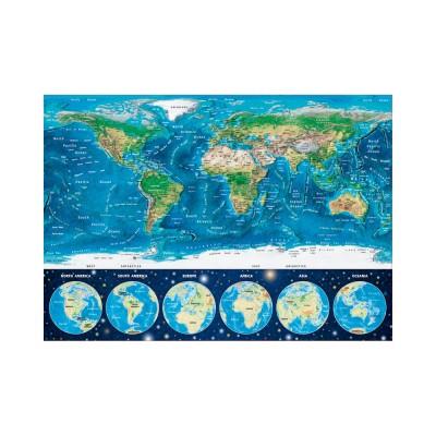 Educa Neon világtérkép puzzle, 1000 darabos
