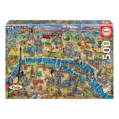 Educa Párizs térképe puzzle, 500 darabos