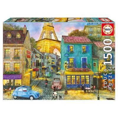 Educa Párizs utcái puzzle, 1500 darabos