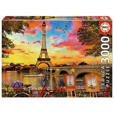 Educa Párizsi naplemente puzzle, 3000 darabos