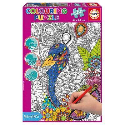 Educa Páva színezhető puzzle, 300 darabos