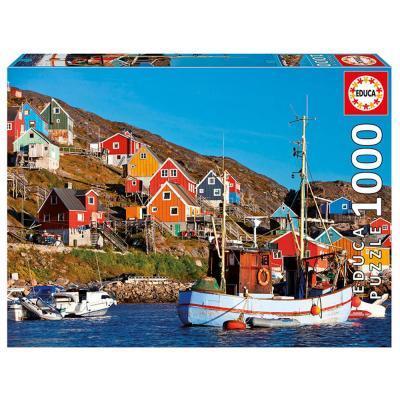 Educa Skandináv házak puzzle, 1000 darabos